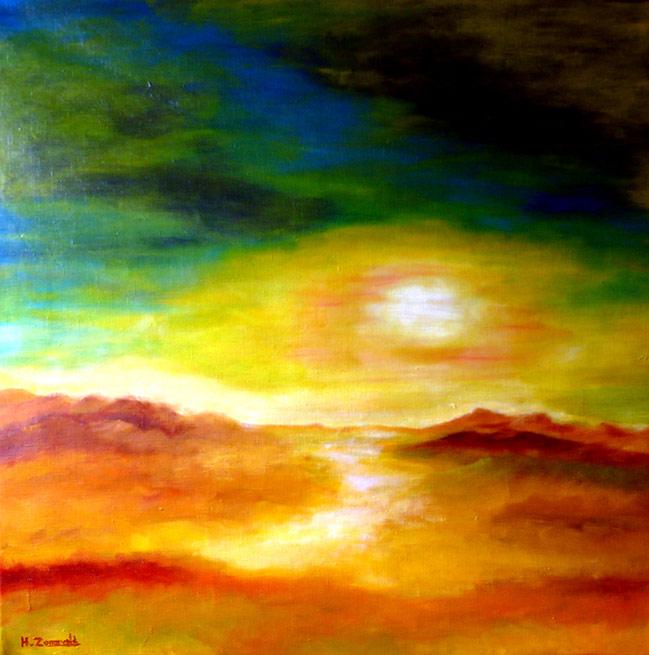 Perspublicaties hans van zonneveld moderne kunstschilder for Moderne schilderijen